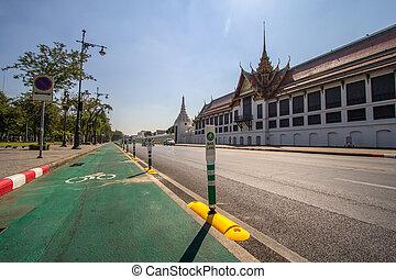 bike lane in bangkok, thailand
