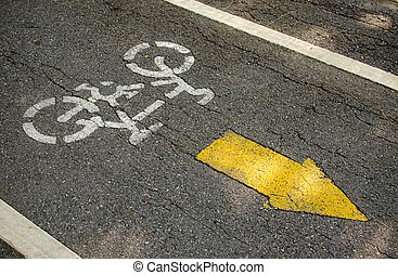 Bike lane, road for bicycles