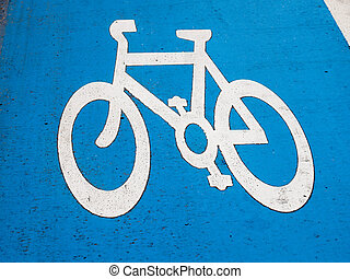 Sign of a bike or bicycle lane