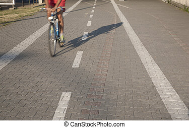 Bike Lane with Cyclist
