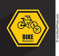 bike maintenance design ,vector illustration