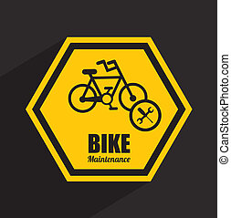bike maintenance design ,vector illustration