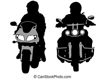 Bike men - People and sport bike on white background