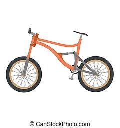 b3564d95961 Bike mountain downhill orange vector flat icon bicycle illustration extreme  urban
