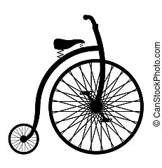bike old retro vintage icon stock vector illustration