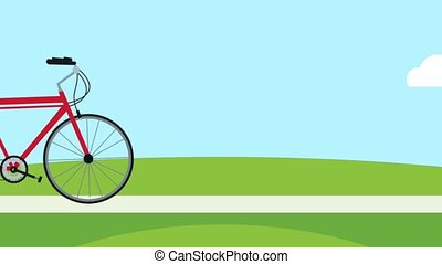 Bike on park HD animation - Bike riding on park High...