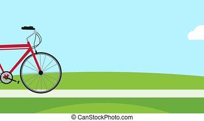 Bike on park HD animation - Bike riding on park High...
