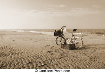 bike on the beach