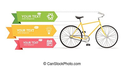 Bike Option Banner. Vector