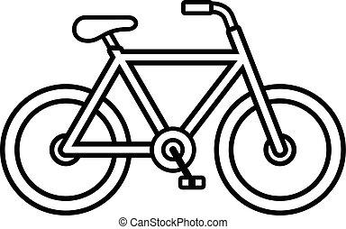 Bike outline illustration