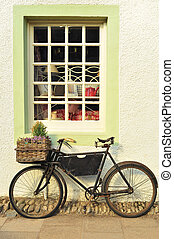 Bike Outside an Old-Fashioned Shop