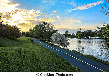 Bike Path Beside River