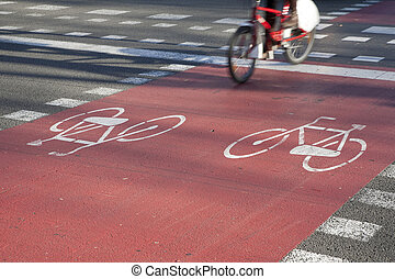 Bike Path in Barcelona, Spain