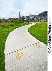 bike path in city