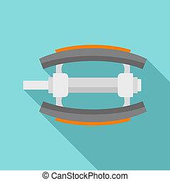 Bike pedal icon, flat style