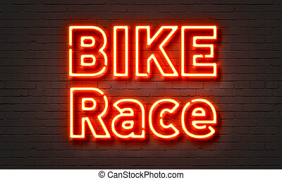 Bike race neon sign