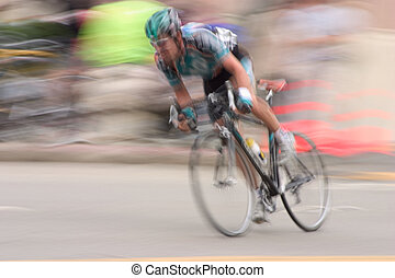 Bike Racer #2 - An intentional slow-shutter blur, gives this...
