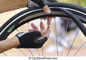 Bike repair with valve and tube