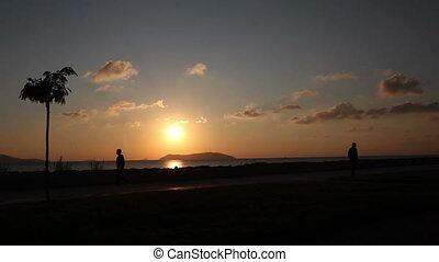 bike ride at sunset, shoot Canon 5D Mark II