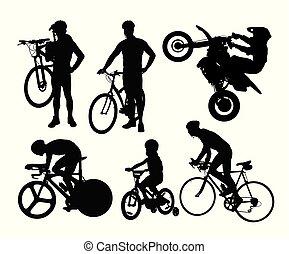 Bike Rider Silhouettes