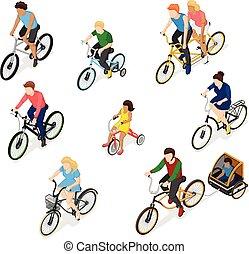 Bike Riders Character Set