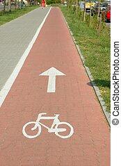 Bike road in town
