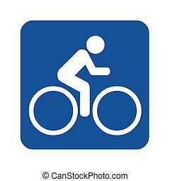 Bike route sign illustration