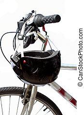 bike safety - helmet and bike
