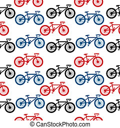 Bike seamless pattern - Bike seamless pattern on white...