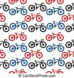 Bike seamless pattern - Bike seamless pattern on white...