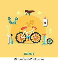 Bike Service Concept Illustration