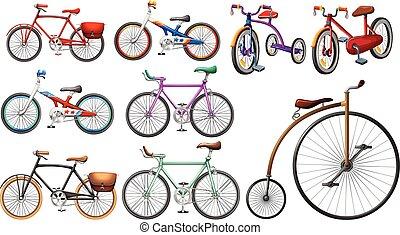 Bike set on white