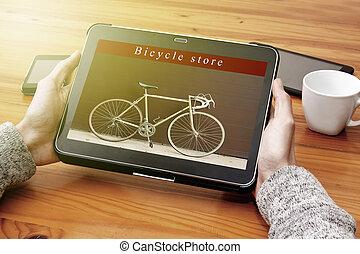 bike shop online digital tablet