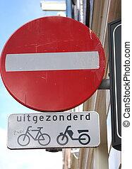 Bike sign.