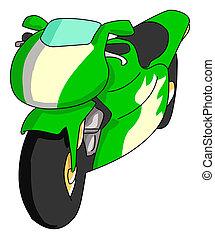 Bike - A fast and beauty green bike