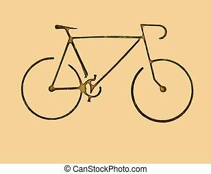 bike symbol - very small bike isolated
