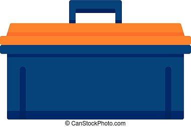 Bike tool box icon, flat style