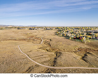 bike trail in Colorado prairie