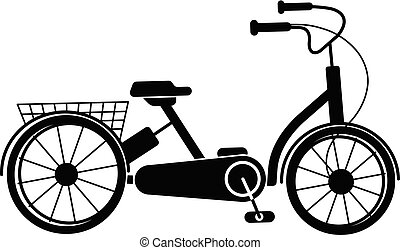 Bike tricycle icon, simple style - Bike tricycle icon....