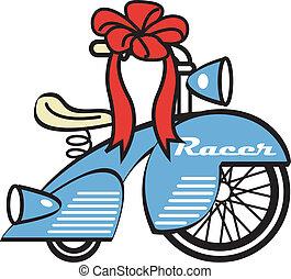 Bike Trike Tricycle Toy Clip Art - Toy bike, trike or...