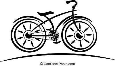 bike vacant sketch isolated on white
