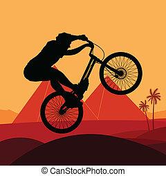 Bike vector background concept