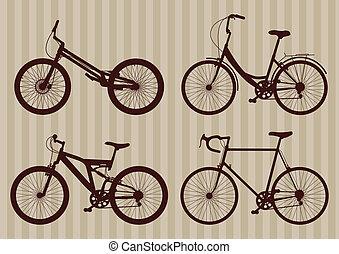 Bike vector background