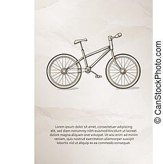 Bike. Vintage Label, Logo, Frame, Brochures. Design Templates. Vector illustration.