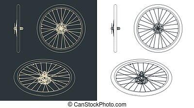 Bike wheel blueprints