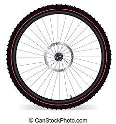 Bike wheel - vector illustration on white background. EPS 8