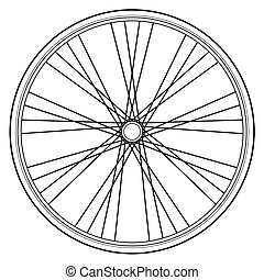 bike wheel isolated on white backgr