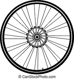 bike wheel isolated on white - bike wheel with tire and...
