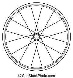 bike wheel isolated on white