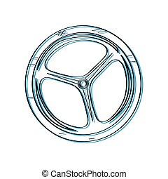 Bike wheel outline